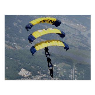 Skydivingのパラシュート ポストカード