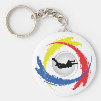 Skydivingの三色の紋章 キーホルダー