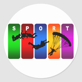 Skydivingの多彩な紋章 ラウンドシール