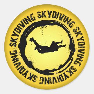Skydivingの素晴らしいシール ラウンドシール