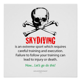 Skydivingの訓練 ポスター