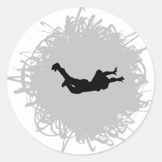 Skydivingの走り書きのスタイル ラウンドシール