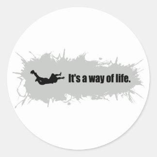 Skydivingは生き方です ラウンドシール