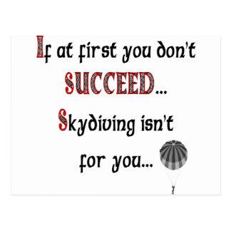 Skydivingを愛すればスマイル ポストカード