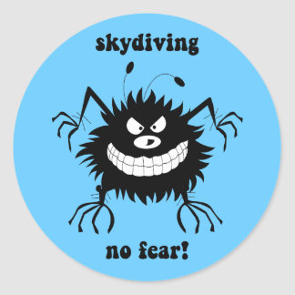 skydiving恐れ無し ラウンドシール