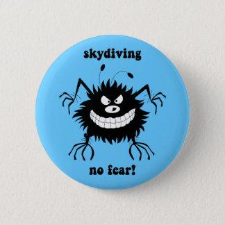 skydiving恐れ無し 5.7cm 丸型バッジ