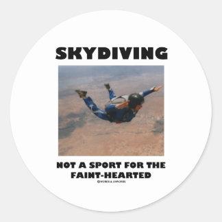 Skydiving憶病ののためのないスポーツ ラウンドシール