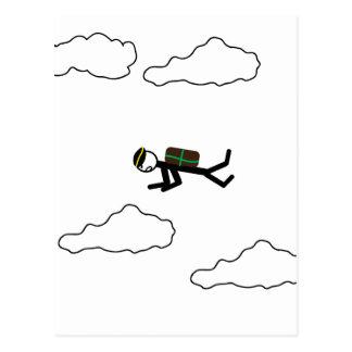Skydiving ポストカード