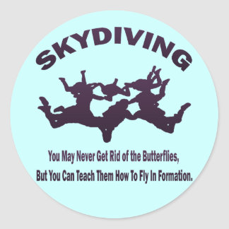 SKYDIVING ラウンドシール