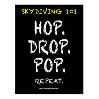 Skydiving 101 -ホツプ。 低下。 破裂音。 繰り返し ポストカード