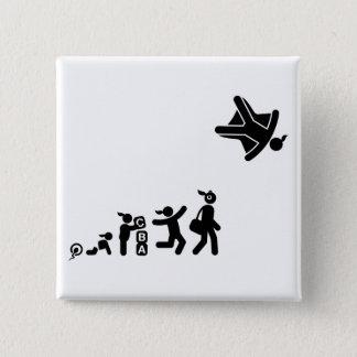 Skydiving 5.1cm 正方形バッジ