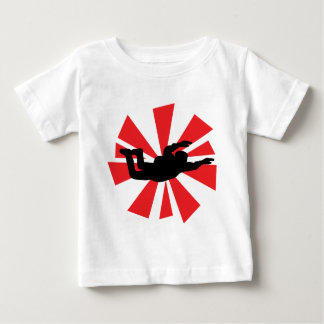 skydiving skydiverアイコン ベビーTシャツ