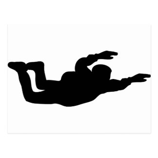 skydiving skydiverアイコン ポストカード