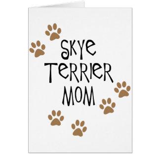 Skyeテリアのお母さん カード