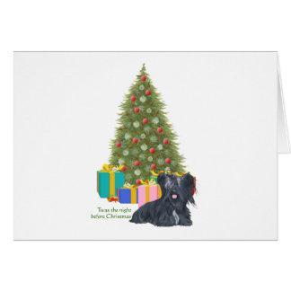 Skyeテリアのクリスマス カード