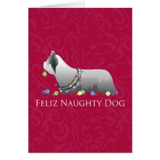 Skyeテリアのメリークリスマスのデザイン カード