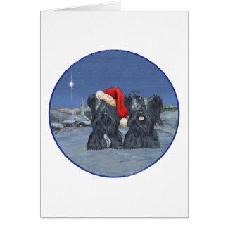 Skyeテリアの冬の夕べ カード