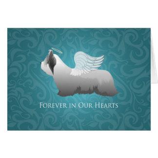 Skyeテリアの天使のデザイン カード