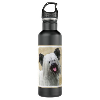 Skyeテリアの絵画-かわいい元の犬の芸術 ウォーターボトル
