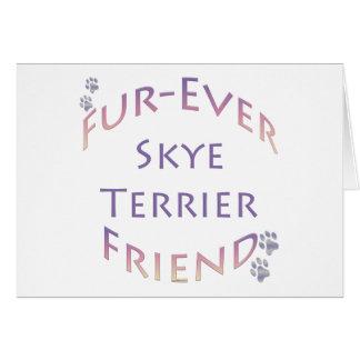 SkyeテリアのFureverの友人 カード