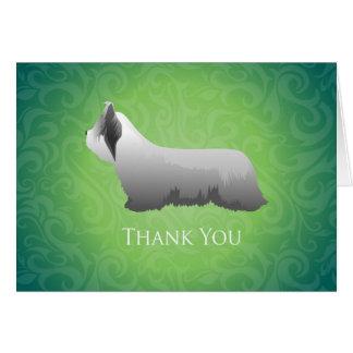 Skyeテリアはデザイン感謝していしています カード