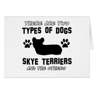 Skyeテリア犬の品種デザイン カード