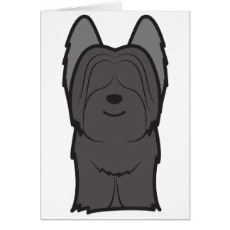 Skyeテリア犬の漫画 グリーティングカード