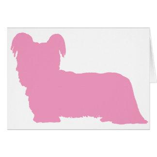 Skyeテリア(ピンク) グリーティングカード