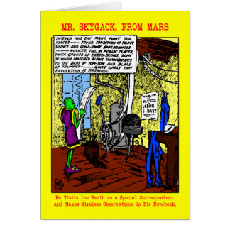 「Skygack Observes氏労働者の日」のカード カード
