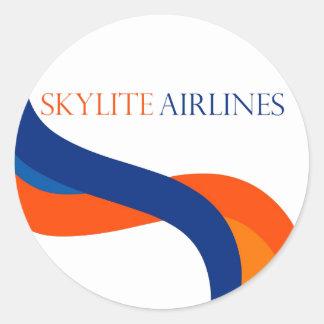 Skylite航空会社のステッカー-デザイン1 ラウンドシール