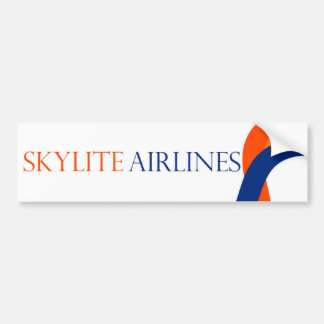 Skylite航空会社のバンパーステッカー-デザイン1 バンパーステッカー
