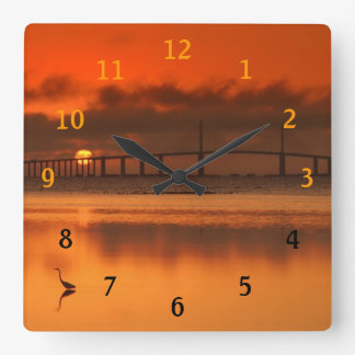 Skyway橋 スクエア壁時計