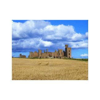 Slainsの城、Aberdeenshire、スコットランド キャンバスプリント