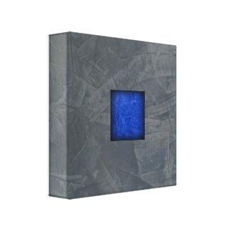 Slate Gray Dark Blue Modern Art キャンバスプリント