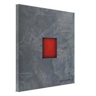 Slate Gray Dramatic Red Modern Art キャンバスプリント
