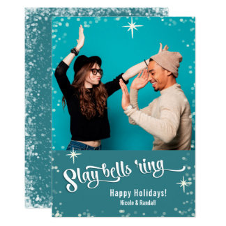 Slay Bells Ring Funny Holiday Photo カード
