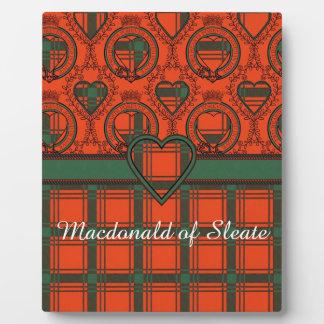 Sleateの格子縞のスコットランド人のタータンチェックのMacdonald フォトプラーク