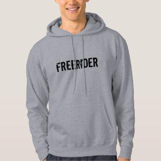 """Sledders.comのFreeRider""灰色のフード付きスウェットシャツ パーカ"
