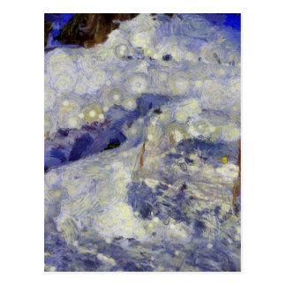 sleddingのための氷のトラック ポストカード