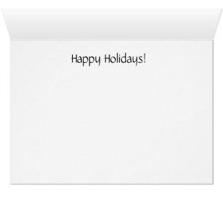 Sleddingリスの休日カード カード