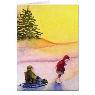 Sledding カード