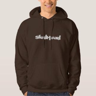 """""""SledHead""""の焦茶Sledders.comフード付きスウェットシャツ パーカ"""
