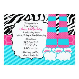 Sleepoverの誕生日の招待状 カード