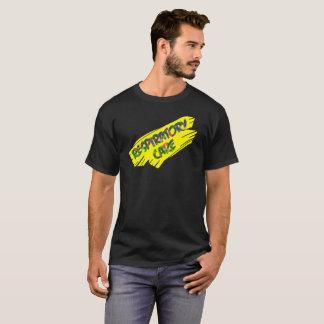 Slipperywindow著呼吸の心配の黄色のスラッシュ Tシャツ