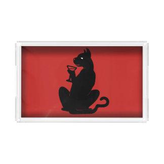 Slipperywindow著黒猫のカクテル アクリルトレー