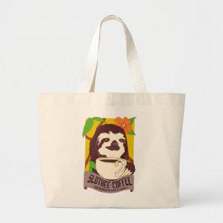Slotheeのコーヒー戦闘状況表示板 ラージトートバッグ