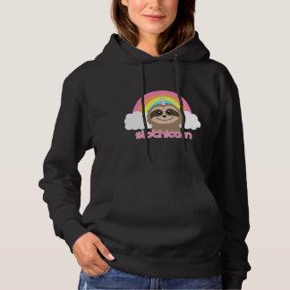 Slothicornのかわいい虹の怠惰のユニコーンのセーター パーカ