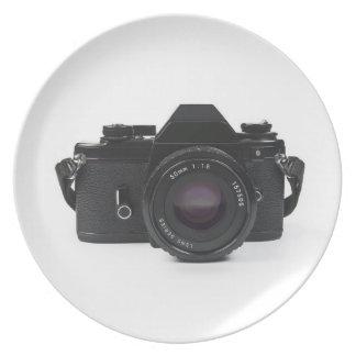 slrの写真のカメラ-クラシックなデザイン プレート