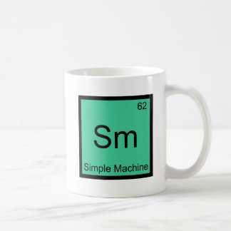 Sm -単純機械化学要素の記号のティー コーヒーマグカップ