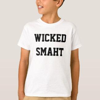 Smahtの悪賢く頭が切れるな子供のおもしろいなボストンアクセント Tシャツ